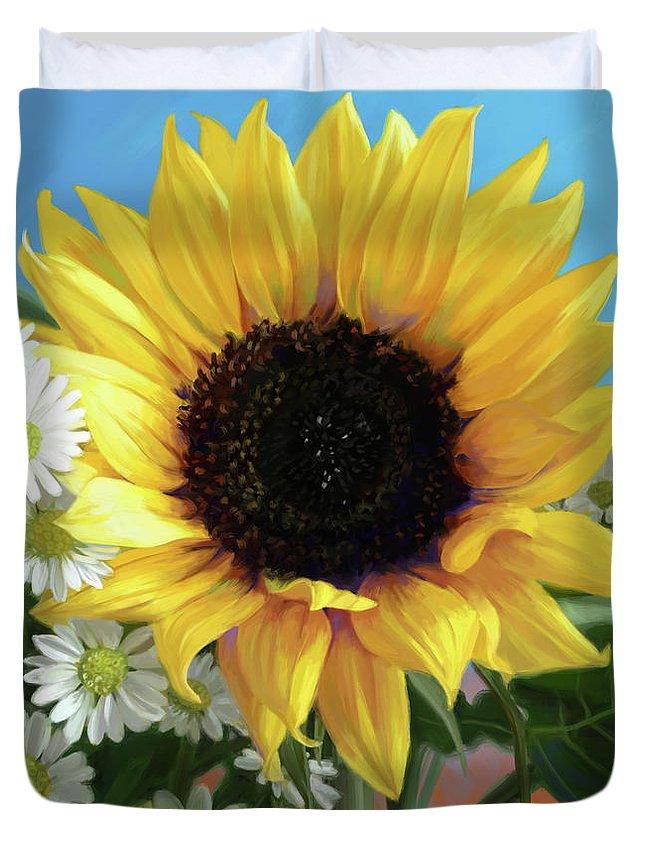 Cheerful Digital Art Duvet Covers