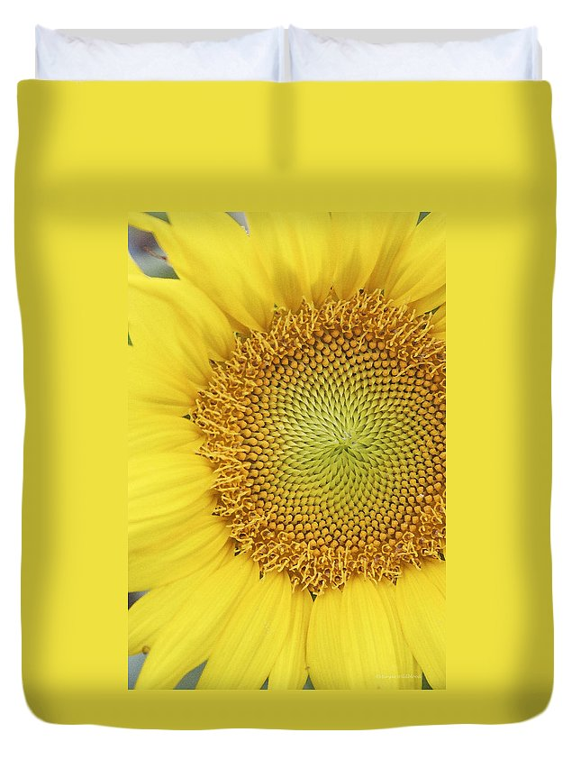 Sunflower Duvet Cover featuring the photograph Sunflower by Margie Wildblood