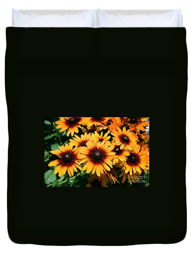 Sunflowers Duvet Cover featuring the photograph Sunflowers by Dean Triolo