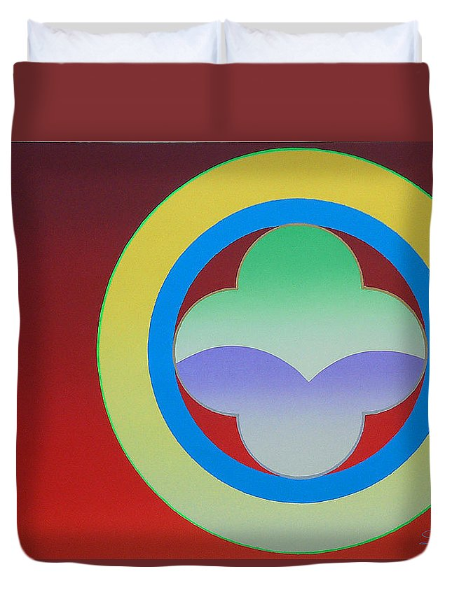 Insignia Duvet Cover featuring the painting Sunlight by Charles Stuart
