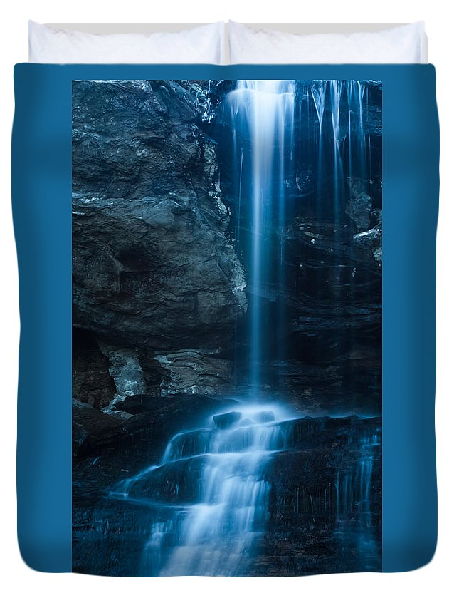 Waterfall Duvet Cover featuring the photograph Window Falls by Kenneth Freyer