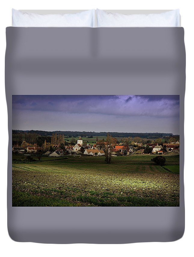 Loire Duvet Cover featuring the photograph Sunlight Over The Loire Valley by Hugh Smith