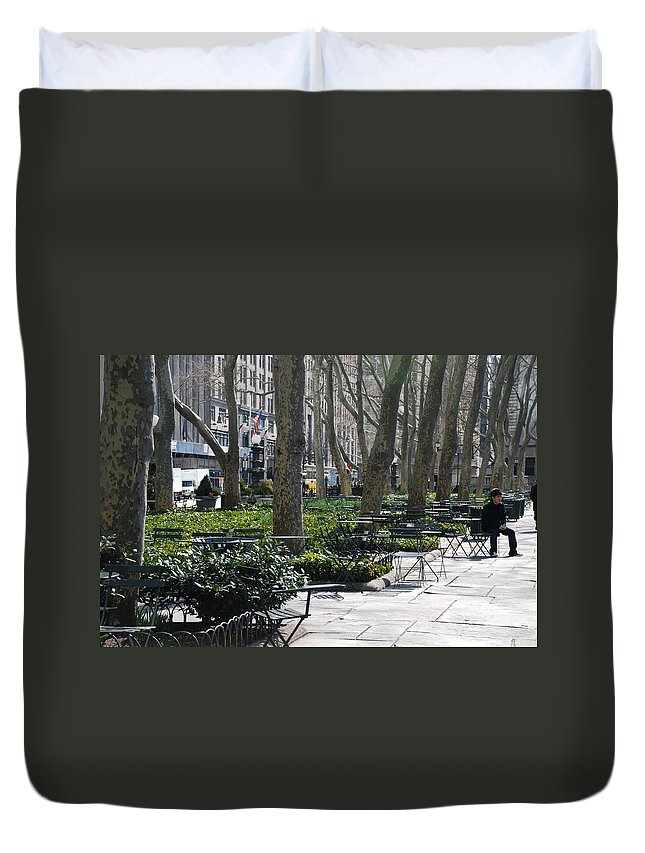 Parks Duvet Cover featuring the photograph Sunny Morning In The Park by Rob Hans