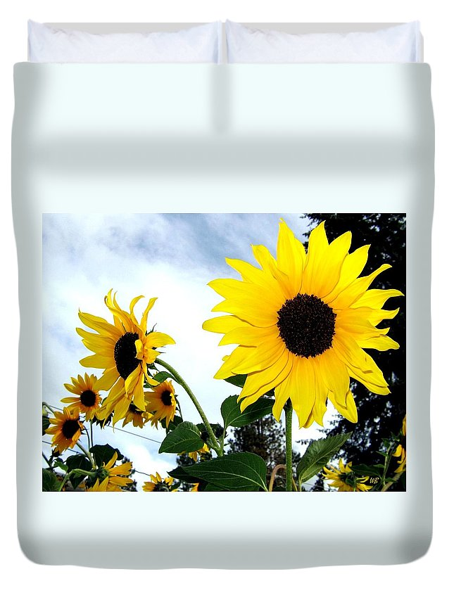 Sunflowers Duvet Cover featuring the photograph Sunny Slopes by Will Borden