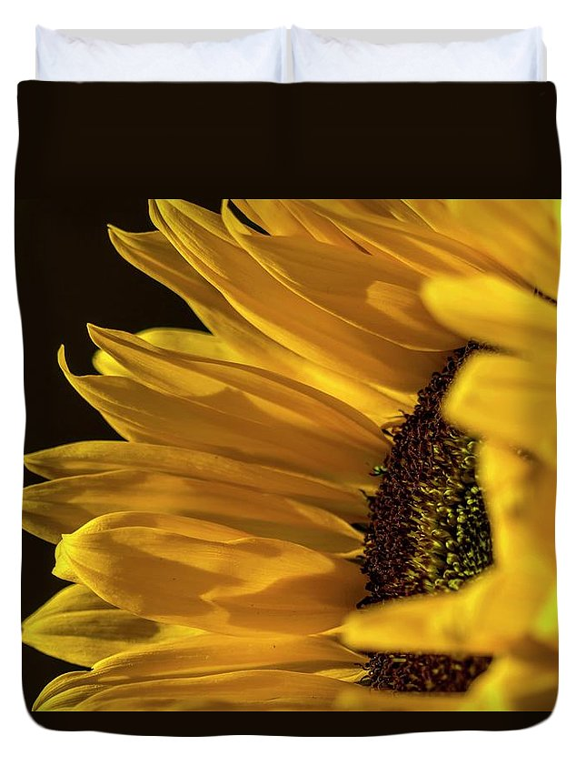 Sunflower Duvet Cover featuring the photograph Sunny Too By Mike-hope by Michael Hope