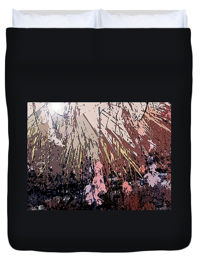 Abstract Duvet Cover featuring the digital art Sunrays by Lenore Senior
