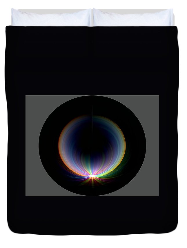 Sunrise Duvet Cover featuring the digital art Sunrise At 30k 1 by Tim Allen