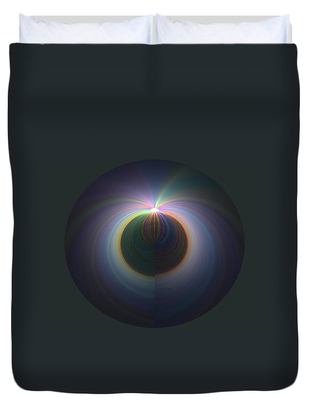 Sunrise Duvet Cover featuring the digital art Sunrise At 30k 2 by Tim Allen