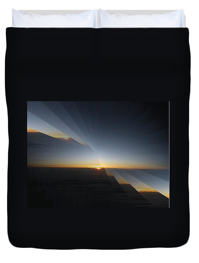 Sunrise Duvet Cover featuring the photograph Sunrise At 30k 4 by Tim Allen