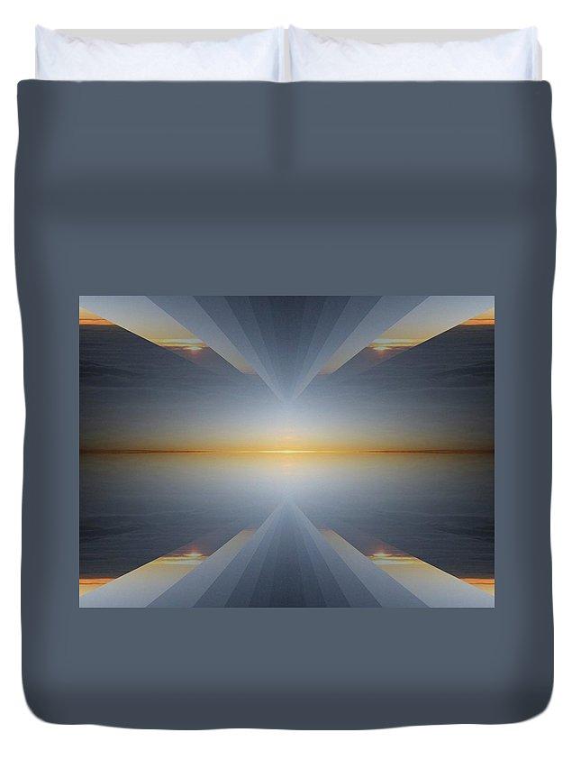 Sunrise Duvet Cover featuring the digital art Sunrise At 30k 5 by Tim Allen