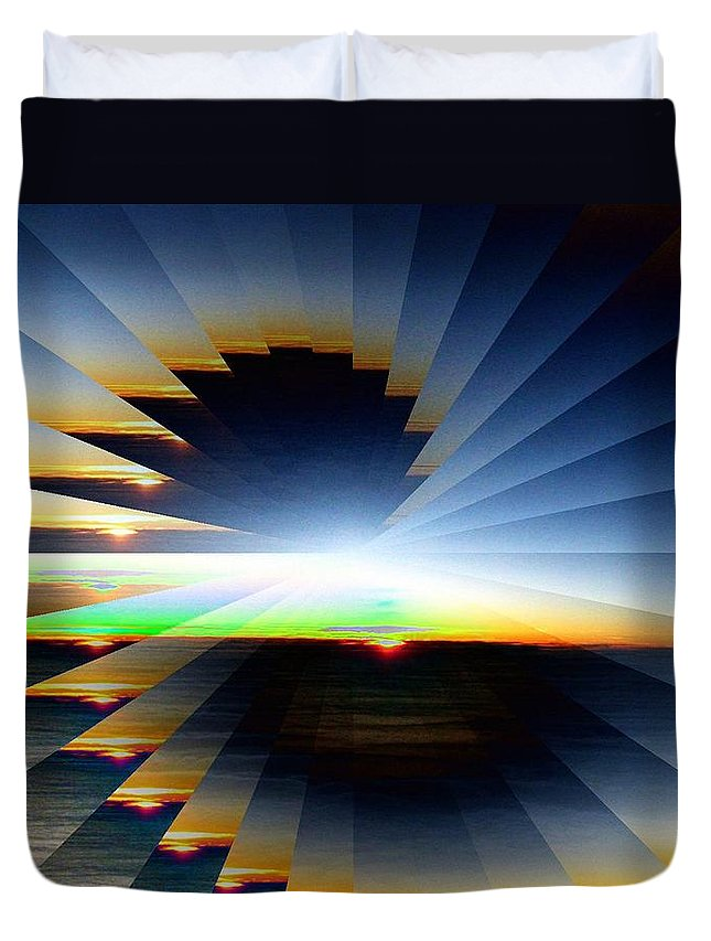 Sunrise Duvet Cover featuring the photograph Sunrise At 30k 6 by Tim Allen