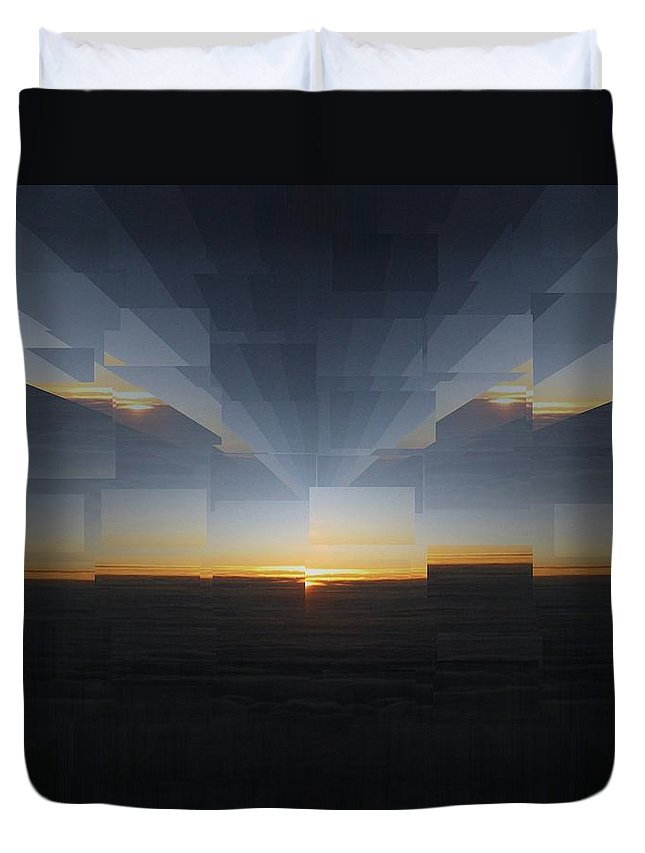 Sunrise Duvet Cover featuring the photograph Sunrise At 30k 8 by Tim Allen