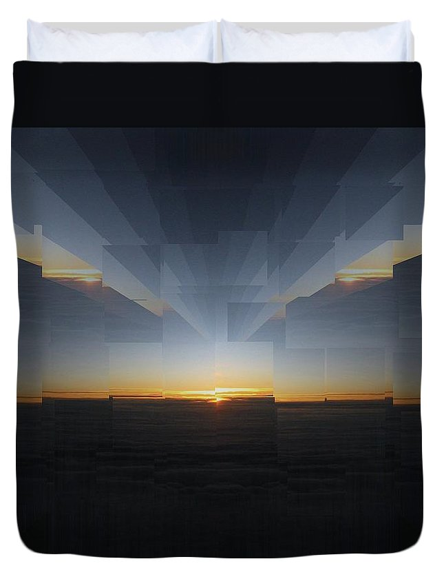 Sunrise Duvet Cover featuring the photograph Sunrise At 30k 9 by Tim Allen