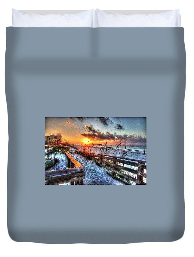 Alabama Photographer Duvet Cover featuring the digital art Sunrise At Cotton Bayou by Michael Thomas