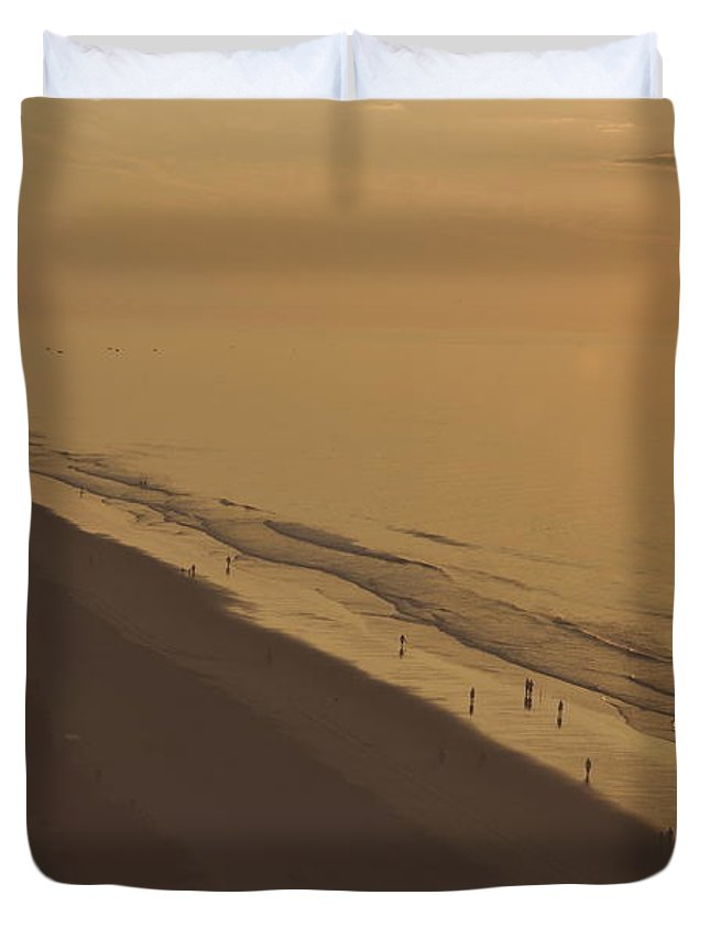 Sunrise Duvet Cover featuring the photograph Sunrise At Myrtle Beach by Wayne Marsh