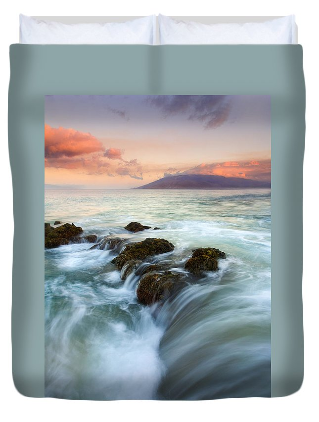 Sunrise Duvet Cover featuring the photograph Sunrise Drain by Mike Dawson