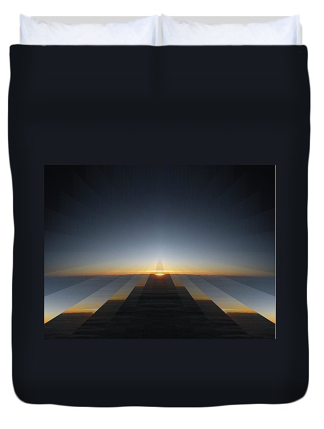 Sunrise Duvet Cover featuring the digital art Sunrise From 30k 3 by Tim Allen