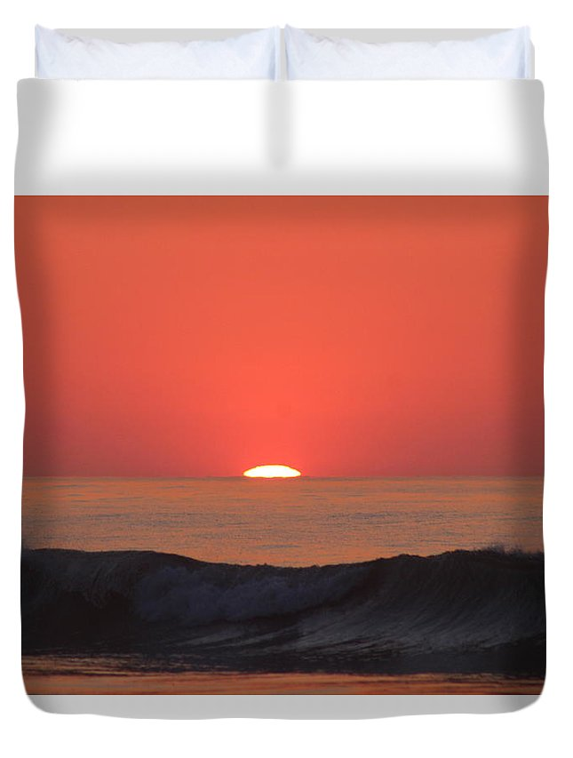 Sunrise Duvet Cover featuring the photograph Sunrise On Myrtle Beach by Amara Dempsey