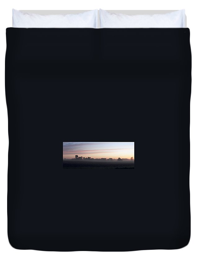 Sunrise Duvet Cover featuring the photograph Sunrise On The Mists by Peggy King