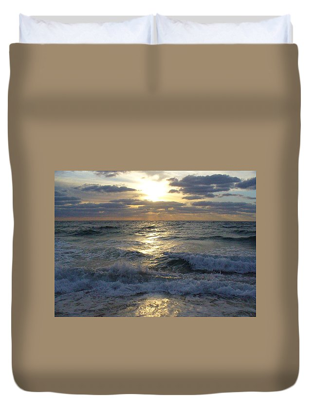 Sunrise Duvet Cover featuring the photograph Sunrise Reflections by Peggy King