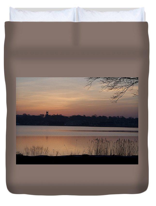 Sunrise Duvet Cover featuring the photograph Sunrise by Steven Natanson