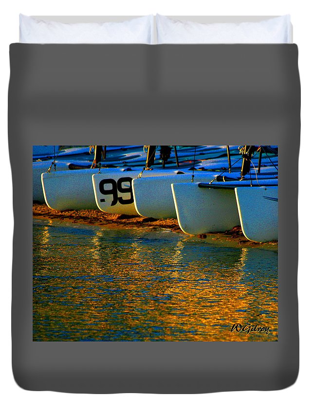 Wgilroy Duvet Cover featuring the photograph Sunrise / Sunset / Sailboats by W Gilroy
