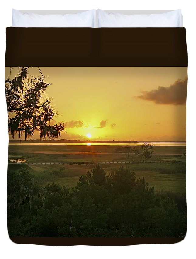 Sunrise Duvet Cover featuring the photograph Sun's Up by Phill Doherty