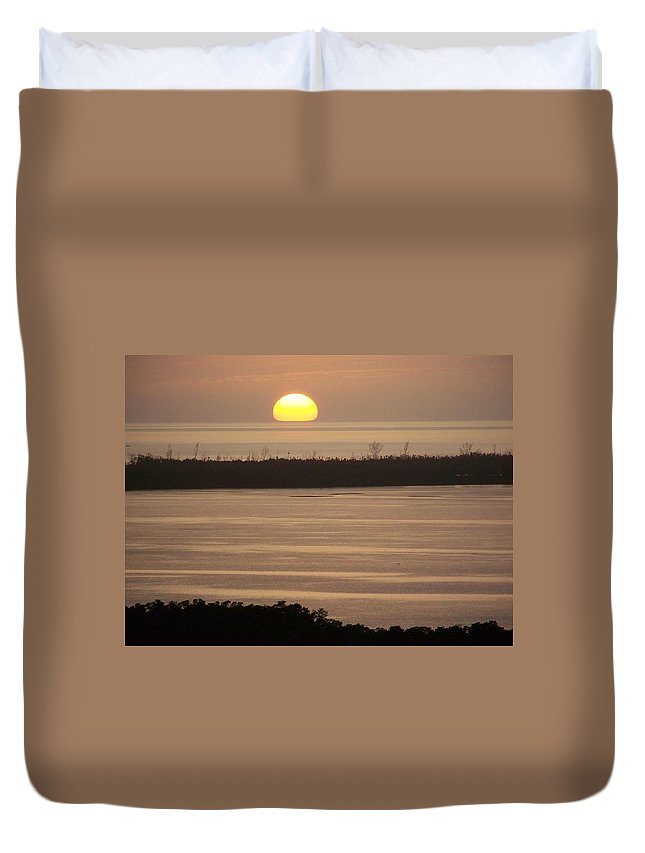 Sunset Duvet Cover featuring the photograph Sunset 0022 by Laurie Paci