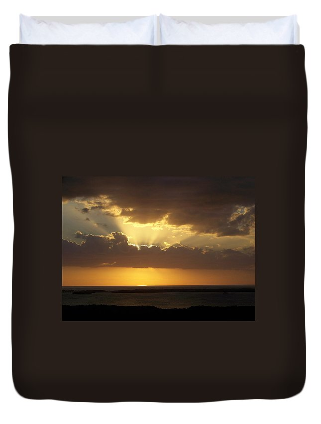 Sunset Duvet Cover featuring the photograph Sunset 0024 by Laurie Paci