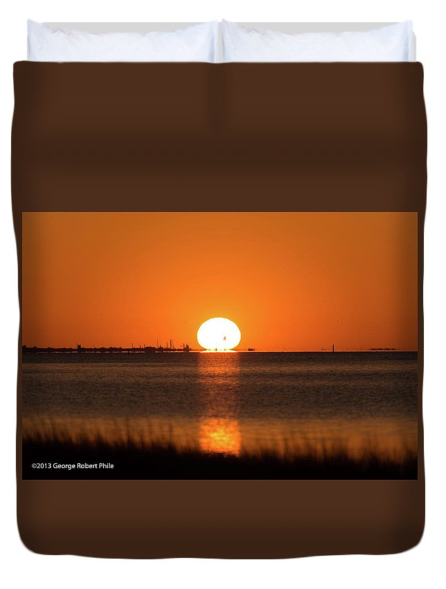 Sunset Duvet Cover featuring the photograph Sunset - 43 by George Phile