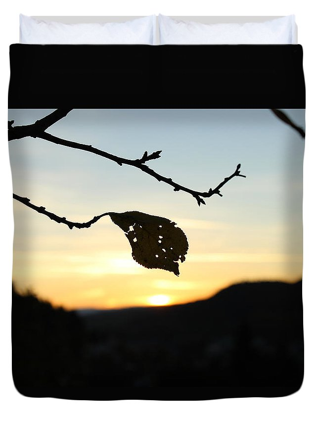 Sunset Duvet Cover featuring the photograph Sunset by Alena Madosova