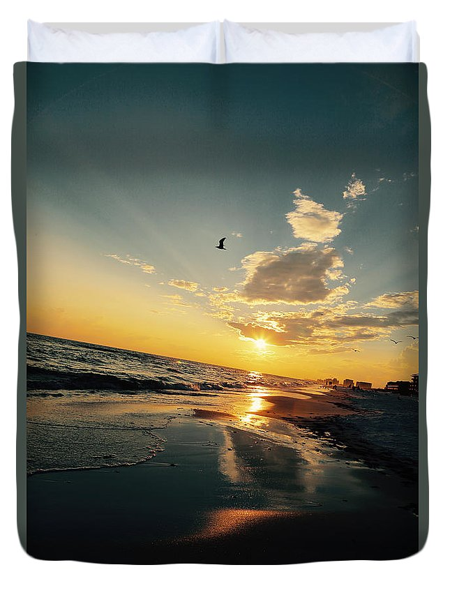 Sunset Duvet Cover featuring the photograph Sunset Angle by Jim Clark