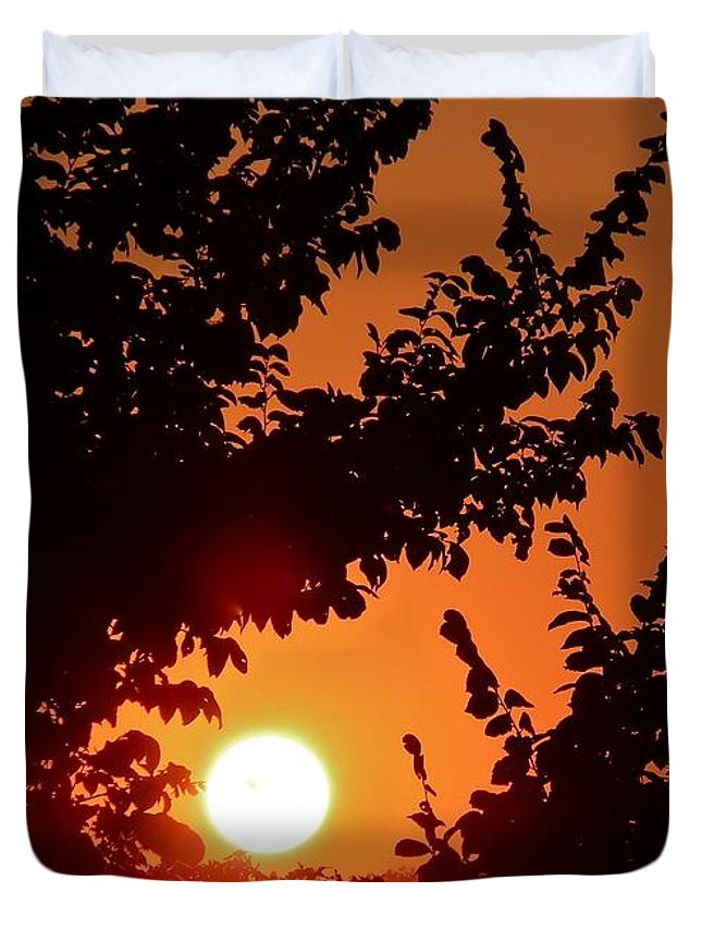 Sunset Duvet Cover featuring the photograph Sunset At Budapest by Hemu Aggarwal