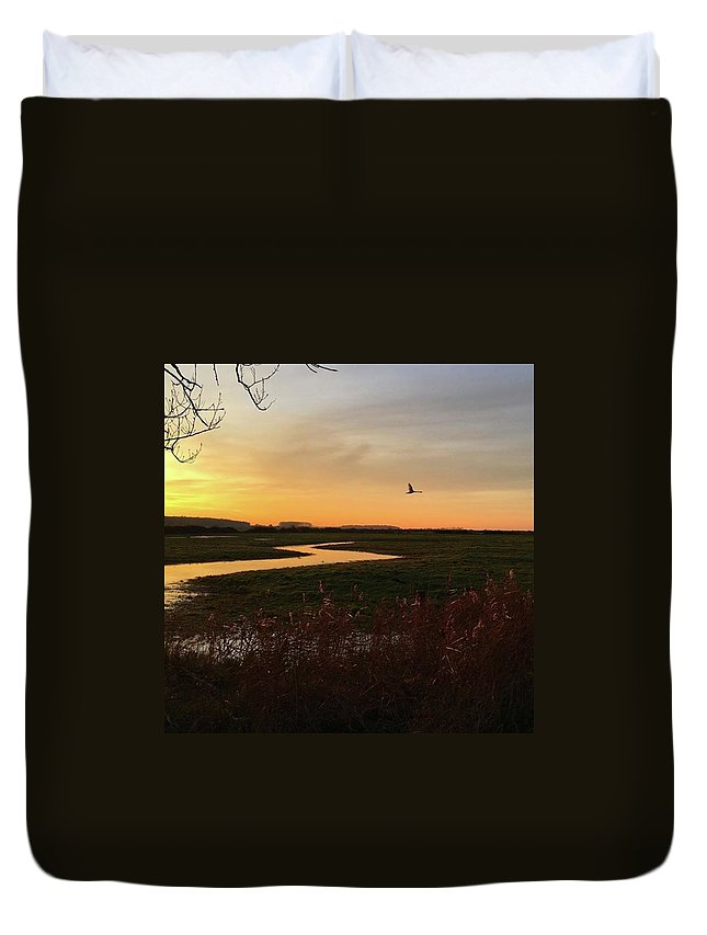 Natureonly Duvet Cover featuring the photograph Sunset At Holkham Today  #landscape by John Edwards