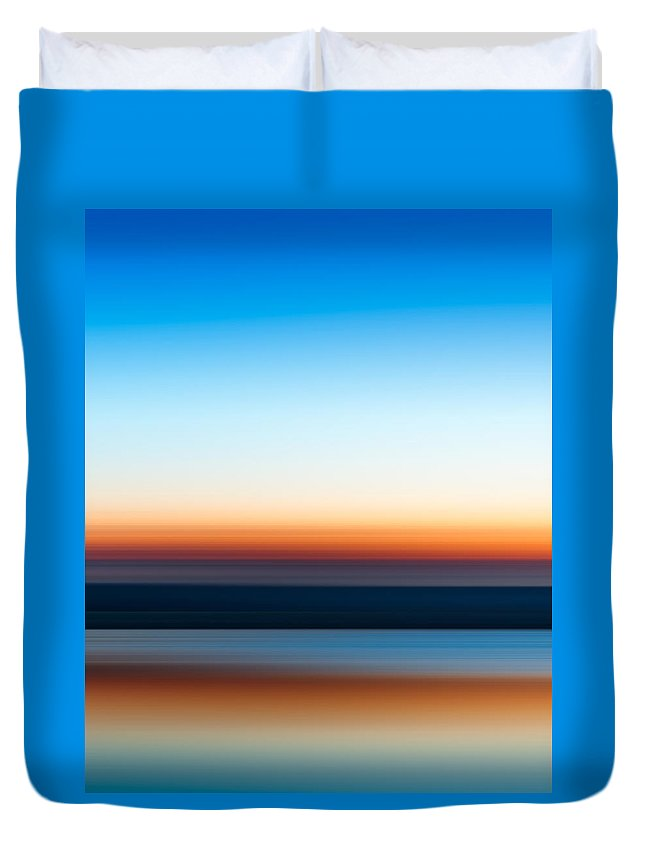 Sunset Duvet Cover featuring the photograph Sunset At Ottawa Lake by Scott Norris