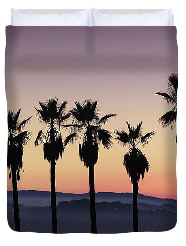 Duvet Cover featuring the photograph Sunset By La by Nathaniel Buzolic