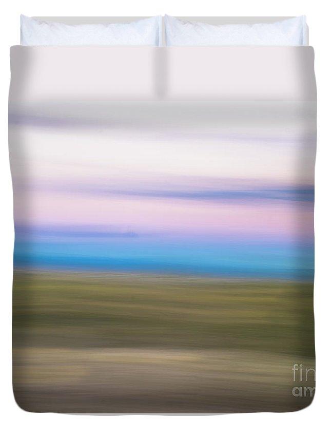 Natanson Duvet Cover featuring the photograph Sunset Cerrillos by Steven Natanson