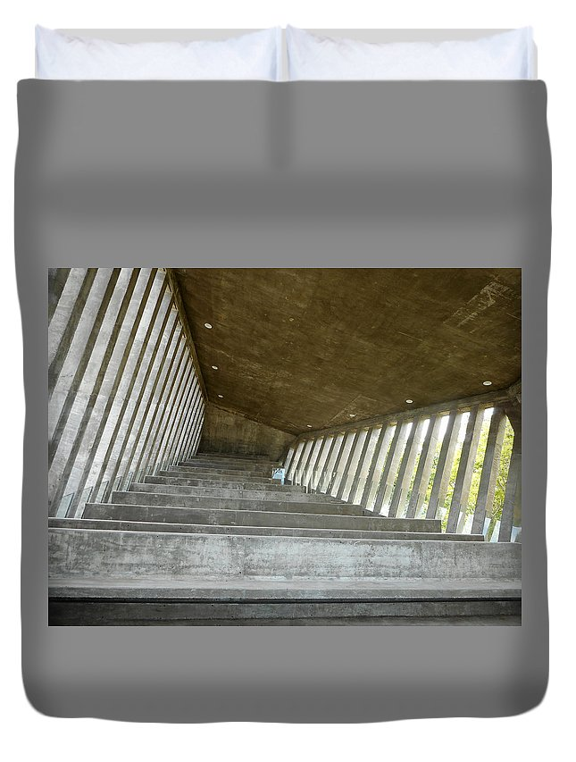 Acapulco Duvet Cover featuring the photograph Sunset Chapel 5 by Ron Kandt