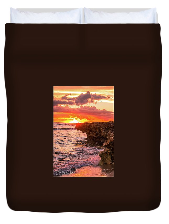 Duvet Cover featuring the photograph Sunset Cliff by Brittney Robles