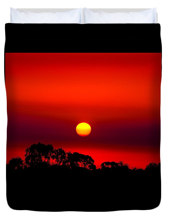 Landscape Duvet Cover featuring the photograph Sunset Dreaming by Az Jackson