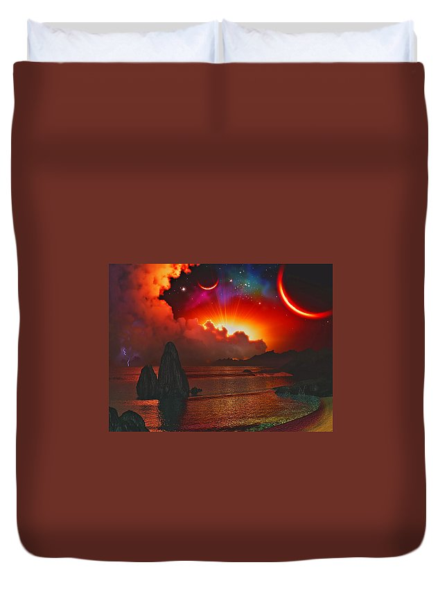 Alien Duvet Cover featuring the photograph Sunset Fantasy by Ron Fleishman