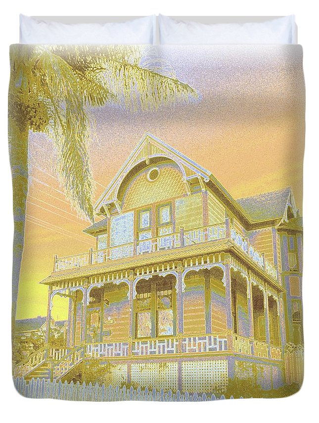 Old Duvet Cover featuring the photograph Sunset Gingerbread by Barbie Corbett-Newmin
