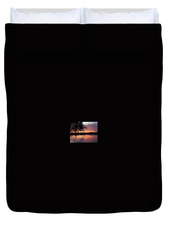 Sunset Duvet Cover featuring the digital art Sunset In Africa by Sterling Haidt