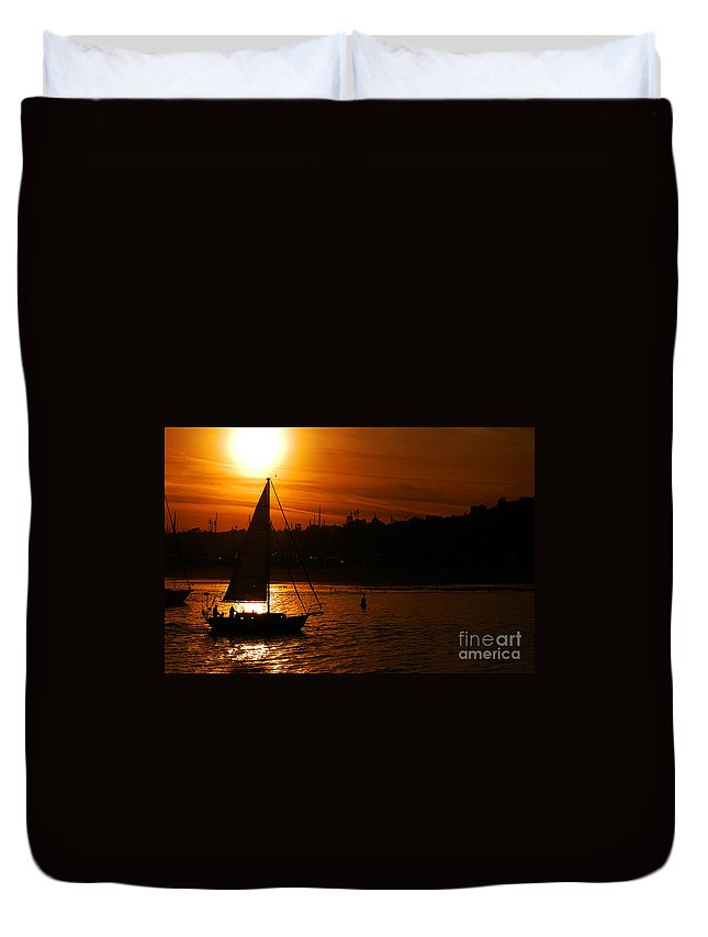 Clay Duvet Cover featuring the photograph Sunset In Southern California by Clayton Bruster