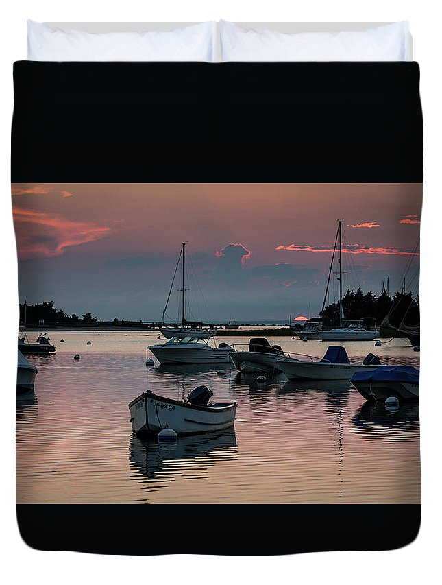 Cape Cod Duvet Cover featuring the photograph Sunset In West Falmouth by Frank Fernino