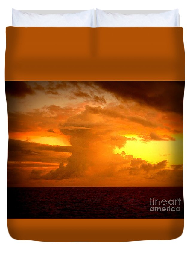 Sunset Duvet Cover featuring the photograph Sunset Indian Ocean by John Potts