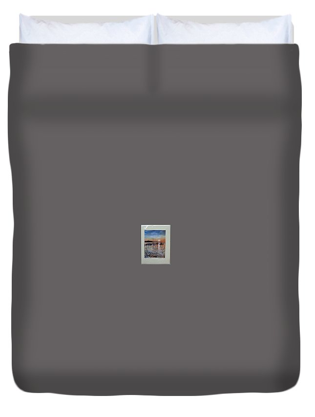 Duvet Cover featuring the painting Sunset by Matthew Evans