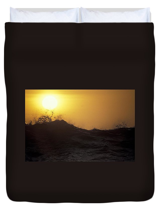 Sunset Duvet Cover featuring the photograph Sunset by Michael Mogensen