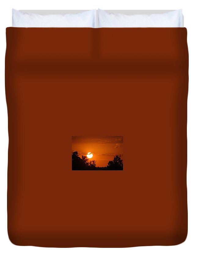 Sunsets Duvet Cover featuring the photograph Sunset Of Charleston Sc by Donna Bentley