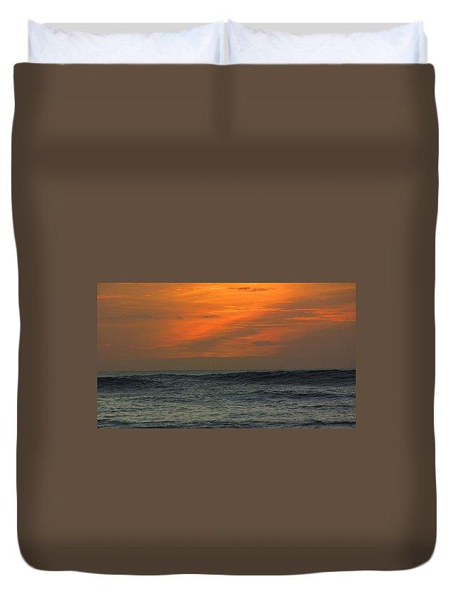 Hawaii Duvet Cover featuring the photograph Sunset Ohau by Sarah Houser